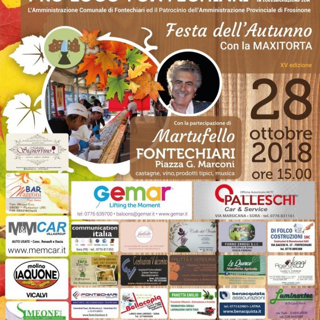 Festa dell'Autunno 2018 con MAXITORTA