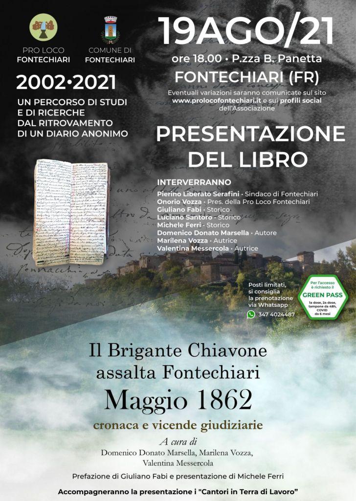 Il Brigante Chiavone assalta Fontechiari MAGGIO 1862 • Presentazione del Libro